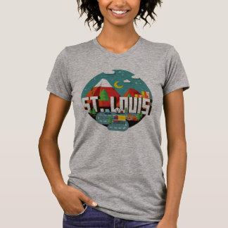 St. Louis, Missouri Geometric Design T-Shirt