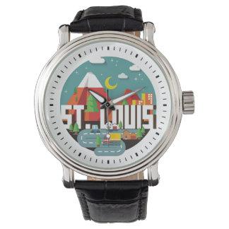 St. Louis, Missouri Geometric Design Watch
