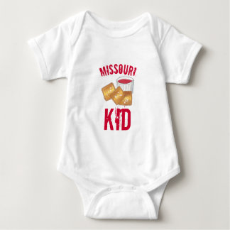 St. Louis Missouri Kid Toasted Fried Ravioli Food Baby Bodysuit