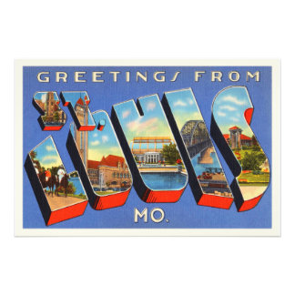 St Louis Missouri MO Old Vintage Travel Souvenir Photograph