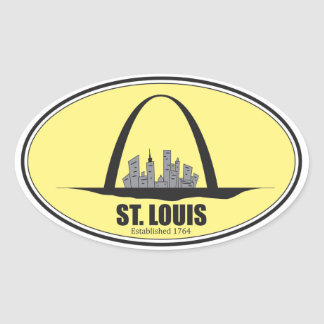 St. Louis Missouri Oval Sticker