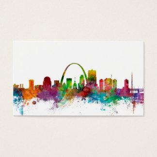 St Louis Missouri Skyline Business Card