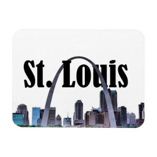 St. Louis Missouri  Skyline w/ St. Louis n the Sky Rectangular Photo Magnet