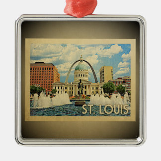 St Louis Missouri Vintage Travel Ornament