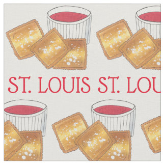St. Louis MO Missouri Toasted Fried Ravioli Food Fabric