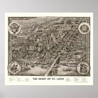 St. Louis, MO Panoramic Map - 1907 Poster