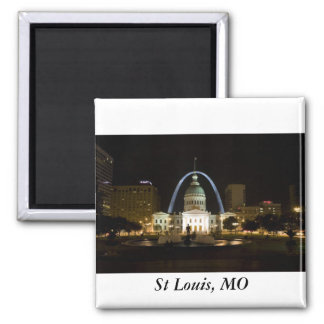St Louis, MO Square Magnet