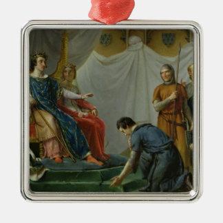 St. Louis  Pardonning Mauclerc Metal Ornament