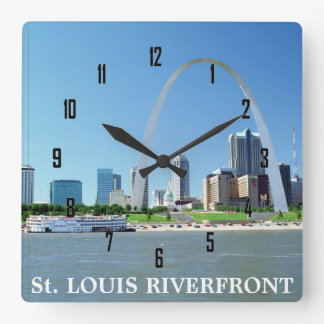 St. LOUIS RIVERFRONT Square Wall Clock