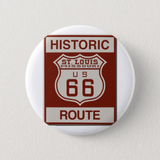 St Louis Route 66 6 Cm Round Badge