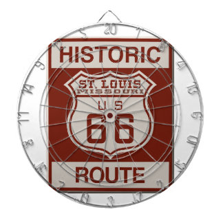 St Louis Route 66 Dartboard With Darts