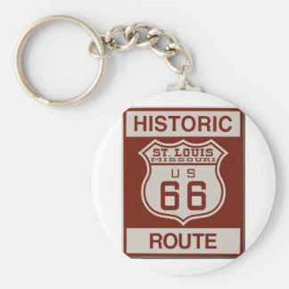 St Louis Route 66 Key Ring