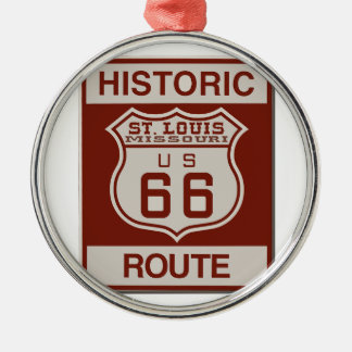 St Louis Route 66 Metal Ornament