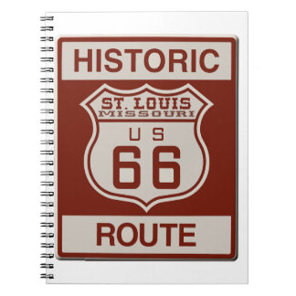 St Louis Route 66 Notebooks