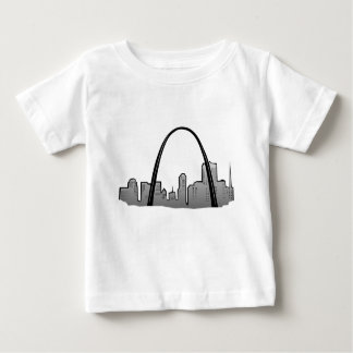 St Louis Skyline Drawing Baby T-Shirt