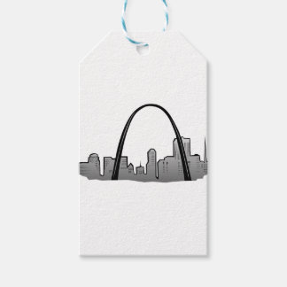 St Louis Skyline Drawing Gift Tags