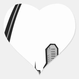 St Louis Skyline Drawing Heart Sticker