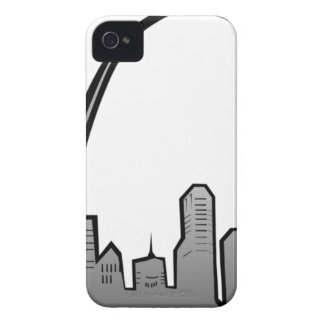 St Louis Skyline Drawing iPhone 4 Case