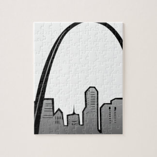 St Louis Skyline Drawing Jigsaw Puzzle