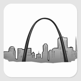 St Louis Skyline Drawing Square Sticker