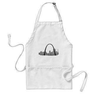 St Louis Skyline Drawing Standard Apron