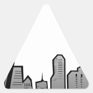 St Louis Skyline Drawing Triangle Sticker