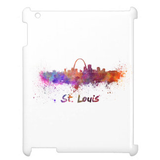 St Louis skyline in watercolor iPad Covers
