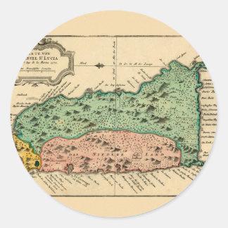 St Lucia 1758 Classic Round Sticker