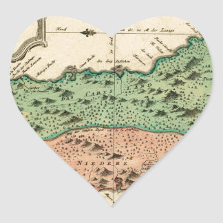 St Lucia 1758 Heart Sticker