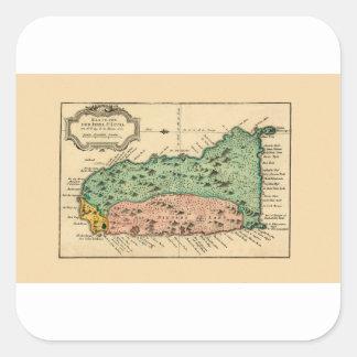 St Lucia 1758 Square Sticker