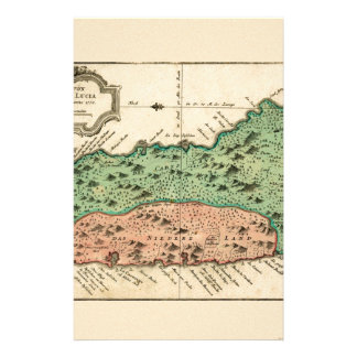 St Lucia 1758 Stationery