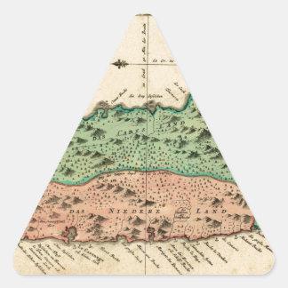 St Lucia 1758 Triangle Sticker