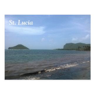 St. Lucia beach Postcard