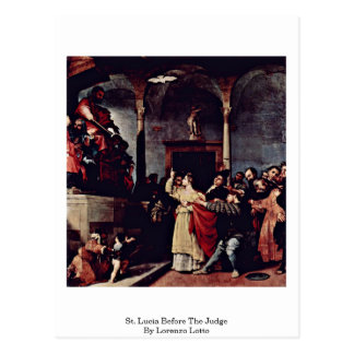 St. Lucia Before The Judge By Lorenzo Lotto Postcard