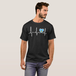 St Lucia Country Flag Heartbeat Pride Tshirt