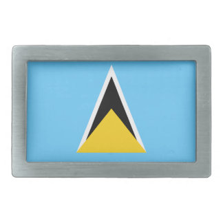 St. Lucia Flag Belt Buckle
