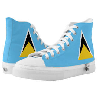 St Lucia Flag High Tops