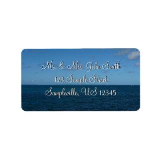 St. Lucia Horizon Blue Ocean Address Label