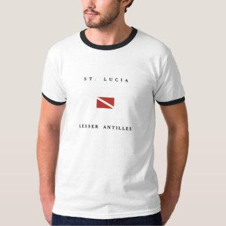 St. Lucia Lesser Antilles Scuba Dive Flag T-Shirt