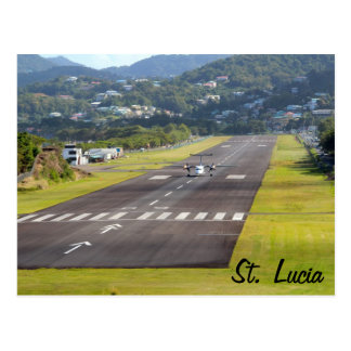 St. Lucia Plane and Airstrip photo Postcard