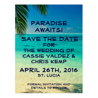 St. Lucia Save the Date Postcard