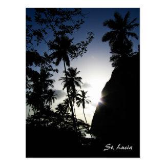 St. Lucia Sunset Postcard