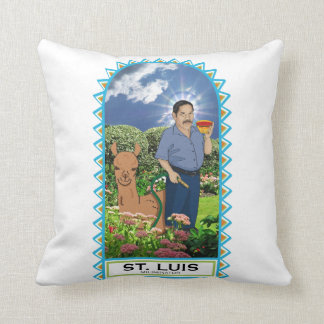 St. Luis and his Llama Miliminator Pillow