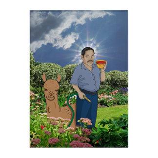 St. Luis in the Garden Acrylic Art