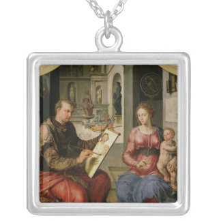 St. Luke Painting the Virgin, c.1545 Silver Plated Necklace