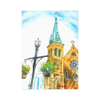 St. Luke's Episcopal Church, in the Sky. 2017 Canvas Print