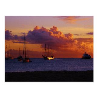 St. Maarten Sunset Postcard