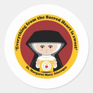 St. Margaret Mary Alacoque Round Sticker
