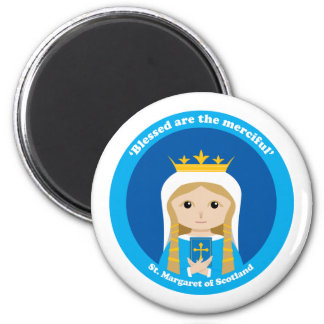 St. Margaret of Scotland 6 Cm Round Magnet