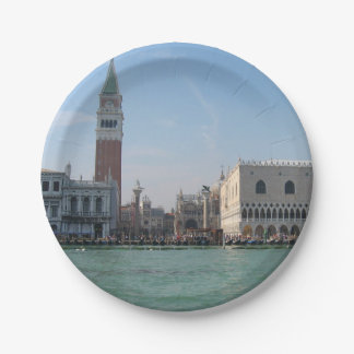 St. Mark's Square from the Grand Canal 7 Inch Paper Plate